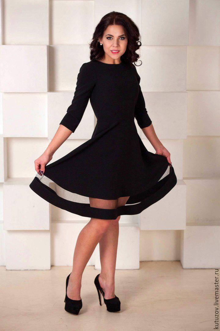 a4e4d236a1e Ярмарка Мастеров - ручная работа. Купить Чёрное платье с сеткой №227 ...