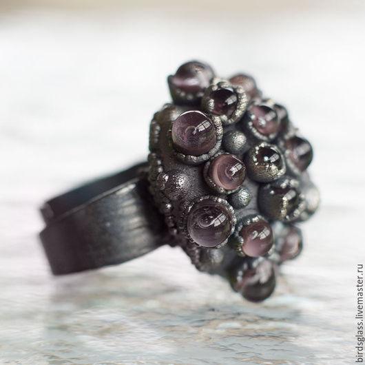 Кольца ручной работы. Ярмарка Мастеров - ручная работа. Купить Кольцо марсианский цветок. Handmade. Мерцающий, радужный, сияние, инопланетянин
