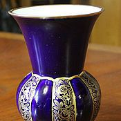 Винтаж handmade. Livemaster - original item R. Beautiful cobalt vase for flowers JAEGER & Co, Germany, 1970. Handmade.