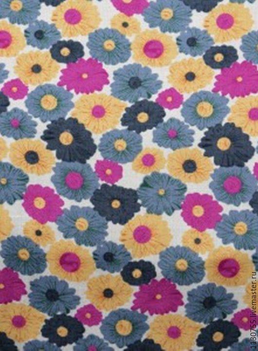 Шитье ручной работы. Ярмарка Мастеров - ручная работа. Купить ткань штапель Нежные цветочки. Handmade. Комбинированный, ткань штапель