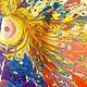 """Шали, палантины ручной работы. Ярмарка Мастеров - ручная работа. Купить Платок """" Павлиний глаз"""". Handmade. Разноцветный, индивидуальность"""