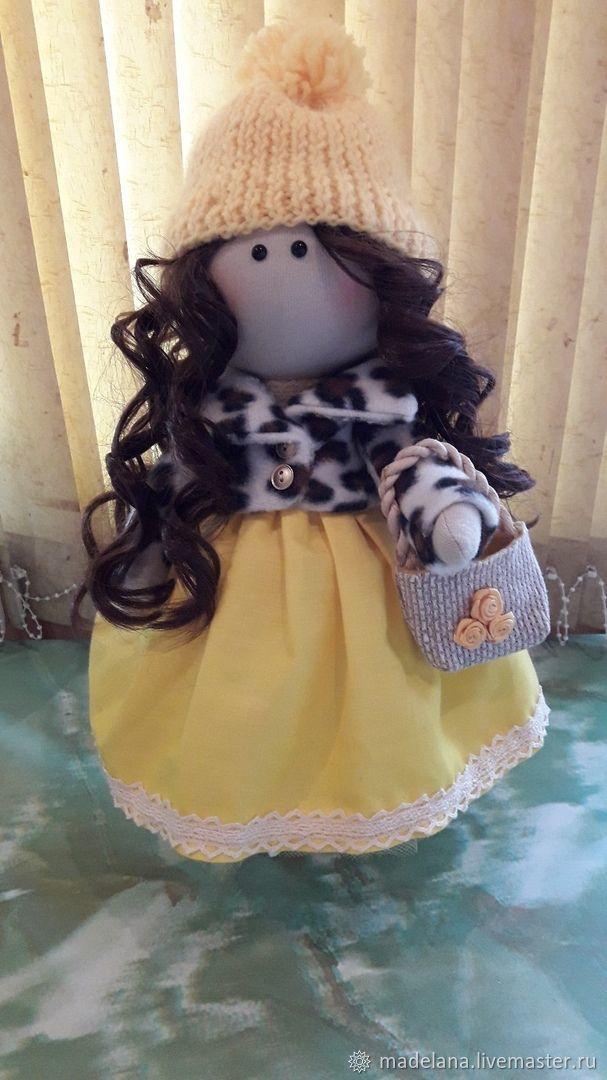 Подарочная интерьерная кукла Лола, Тыквоголовка, Сочи,  Фото №1