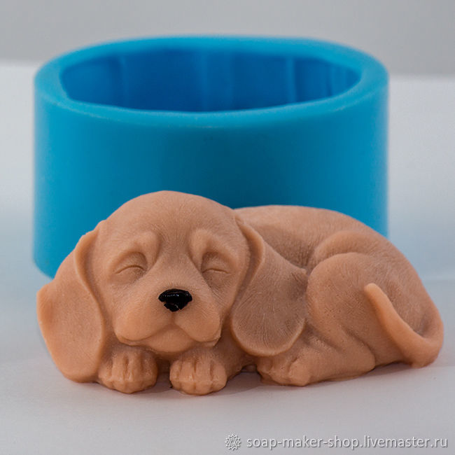 Silicone mold for soap 'Dog 4 3D', Form, Shahty,  Фото №1