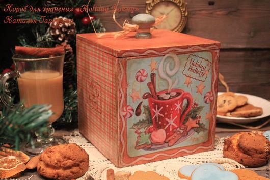 """Кухня ручной работы. Ярмарка Мастеров - ручная работа. Купить Короб для хранения """"Holiday  Bakery"""". Handmade. Рыжий, Праздник"""