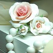 Свадебный салон ручной работы. Ярмарка Мастеров - ручная работа Шпильки с нежными розами. Handmade.