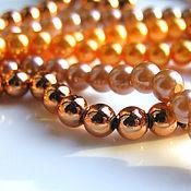 handmade. Livemaster - original item Beads: acrylic pearl beads 6mm. Handmade.