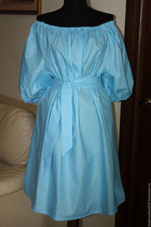 """Платья ручной работы. Ярмарка Мастеров - ручная работа. Купить Маленькое """"Небесно голубое"""". Handmade. Голубой, платье на каждый день"""