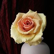 Цветы и флористика ручной работы. Ярмарка Мастеров - ручная работа Роза из холодного фарфора. Handmade.
