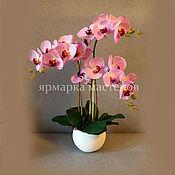Цветы и флористика ручной работы. Ярмарка Мастеров - ручная работа Орхидея искусственная в горшке. Handmade.