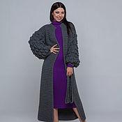 Одежда handmade. Livemaster - original item A long dark gray cardigan. Handmade.