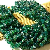 Материалы для творчества handmade. Livemaster - original item Agate crumb green, 85 cm. Thread. Handmade.