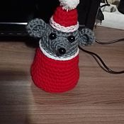 Мягкие игрушки ручной работы. Ярмарка Мастеров - ручная работа Мягкие игрушки: Новогодняя мышка. Handmade.