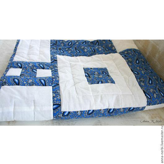 """Текстиль, ковры ручной работы. Ярмарка Мастеров - ручная работа. Купить Одеяло и две наволочки """"Вдохновение"""". Handmade. Синий, одеяло"""