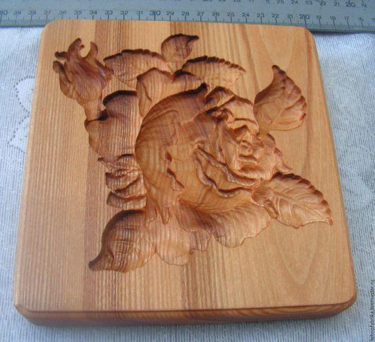 Кухня ручной работы. Ярмарка Мастеров - ручная работа. Купить Доска пряничная Роза. Handmade. Бежевый, дерево, доска для кухни