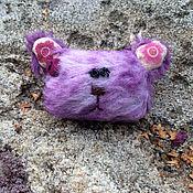 Украшения ручной работы. Ярмарка Мастеров - ручная работа Брошка мишка тедди лаванда. Handmade.