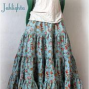 """Одежда handmade. Livemaster - original item Skirt """"Evening Flowers"""". Handmade."""