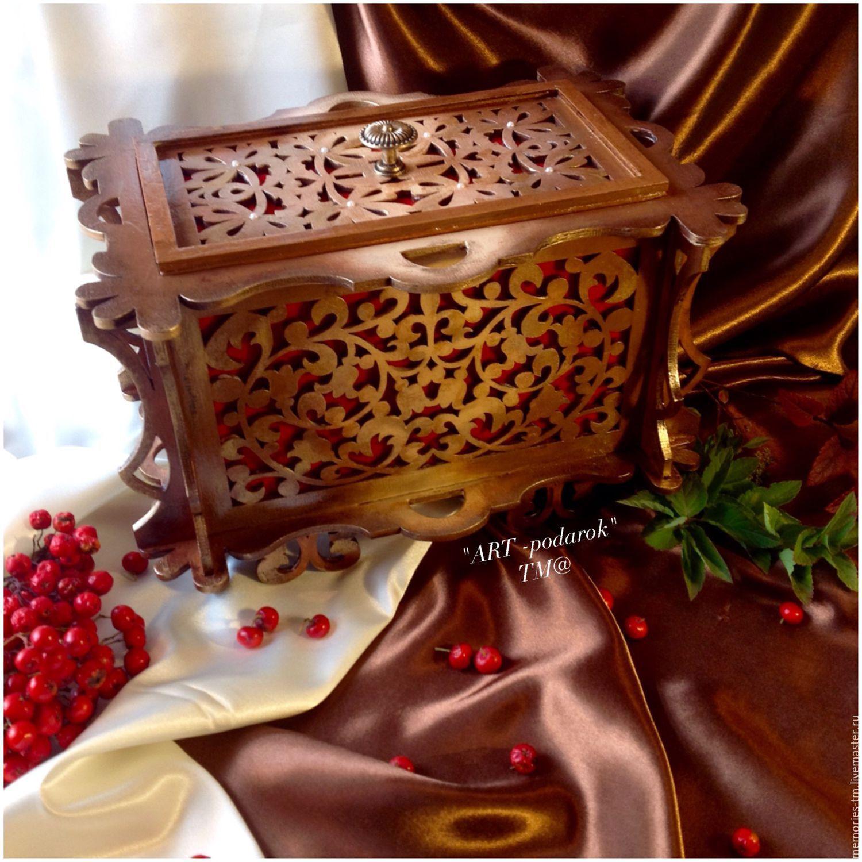 "Casket ""Golden lace"" for accessories, Box, St. Petersburg,  Фото №1"