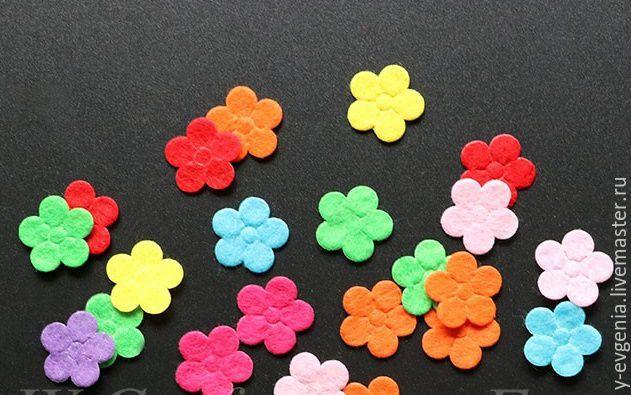 Аппликация цветы из фетра