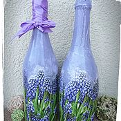 Сувениры и подарки handmade. Livemaster - original item Decoupage bottles,gift clearance bottles. Handmade.