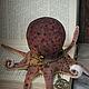 Игрушки животные, ручной работы. Заказать Octopus burgundy.... Ирина Сайфийдинова (textileheart). Ярмарка Мастеров. Осьминожка, авторская игрушка, сливовый
