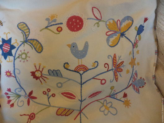 Винтажные предметы интерьера. Ярмарка Мастеров - ручная работа. Купить чехол на подушку -дивный сад. Handmade. Белый
