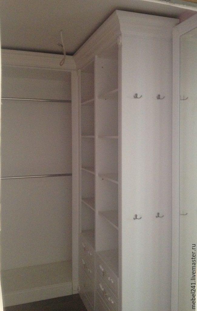 Белые гардеробные комнаты из мдф - купить в интернет-магазин.