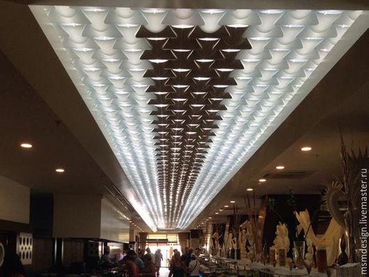 """Декор поверхностей ручной работы. Ярмарка Мастеров - ручная работа. Купить Дизайнерские декоративные потолки """"Волнистый потолок"""" Wave ceiling. Handmade."""