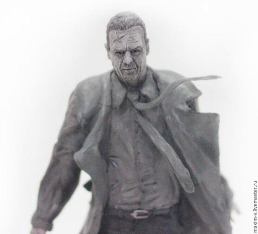 Человечки ручной работы. Ярмарка Мастеров - ручная работа. Купить Персонаж Хартиган из фильма Город Грехов. Handmade. Серый