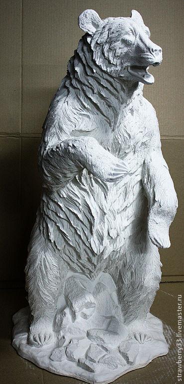 """Элементы интерьера ручной работы. Ярмарка Мастеров - ручная работа. Купить Скульптура """"Медведь"""". Handmade. Скульптура, декоративные элементы, медведи"""