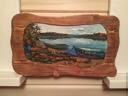Пейзаж ручной работы. Ярмарка Мастеров - ручная работа. Купить Картина маслом на дереве. Handmade. Комбинированный, картина маслом