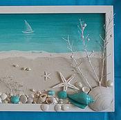Картины и панно ручной работы. Ярмарка Мастеров - ручная работа «Бирюзовая лагуна». Handmade.