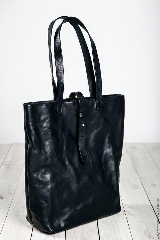 Женские сумки ручной работы. Ярмарка Мастеров - ручная работа. Купить Черная сумка. Handmade. Черный, Кожаная сумка