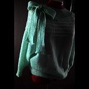 """Одежда ручной работы. Ярмарка Мастеров - ручная работа джемпер из мохера на шелке """"свежий ветер"""". Handmade."""