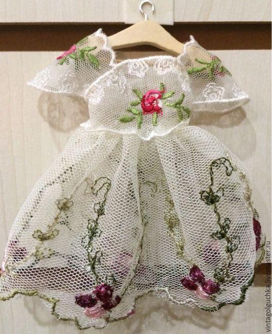Кукольный дом ручной работы. Ярмарка Мастеров - ручная работа. Купить миниатюрное платье №9. Handmade. Комбинированный, миниатюра для кукол