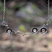 Украшения handmade. Livemaster - original item Sakura necklace (silver, rose quartz). Handmade.