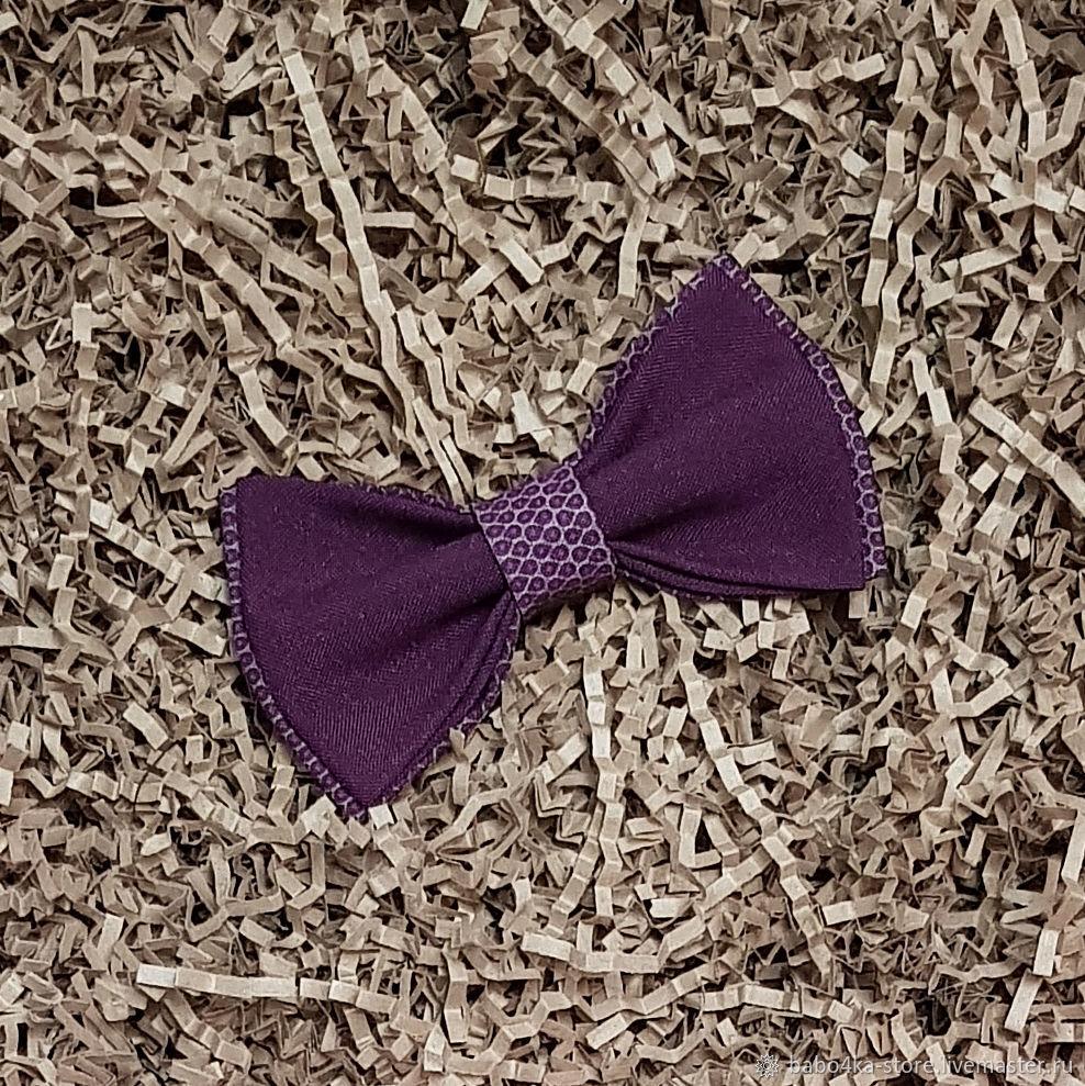 Бабочка фиолетового цвета с орнаментом, Галстуки, Санкт-Петербург,  Фото №1