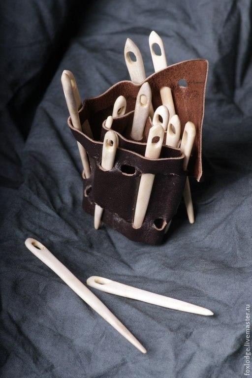 Вязание ручной работы. Ярмарка Мастеров - ручная работа. Купить Иглы вязальные костяные. Handmade. Вязание, nailbunding, инструмент