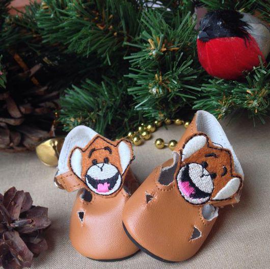 Куклы и игрушки ручной работы. Ярмарка Мастеров - ручная работа. Купить ботиночки коричневые 7см. Handmade. Коричневый, ботинки для кукол