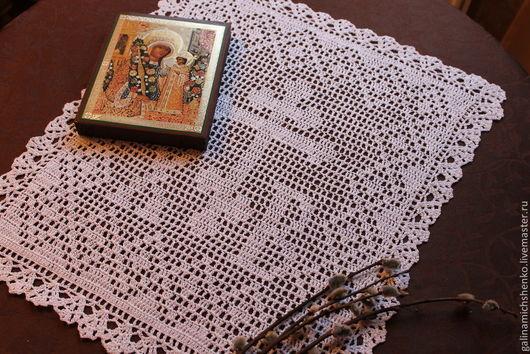 Текстиль, ковры ручной работы. Ярмарка Мастеров - ручная работа. Купить Салфетка № 160 (пасхальная). Handmade. Белый