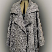 Одежда handmade. Livemaster - original item Cocoon coat big size Street fashion - 2. Look-1. Handmade.