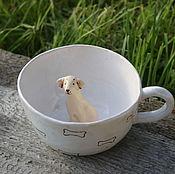 """Посуда ручной работы. Ярмарка Мастеров - ручная работа Кружки """"Хочу собаку!"""". Handmade."""