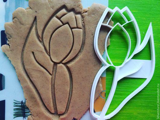 Кухня ручной работы. Ярмарка Мастеров - ручная работа. Купить Форма для печенья Тюльпан па стебле. Handmade. Разноцветный