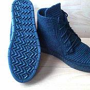 Обувь ручной работы. Ярмарка Мастеров - ручная работа Ботинки вязаные мужские ( полушерсть ). Handmade.