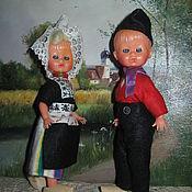 Винтаж ручной работы. Ярмарка Мастеров - ручная работа Винтажные итальянские куклы Querzola Marco в голландских костюмах. Handmade.