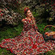 """Платья ручной работы. Ярмарка Мастеров - ручная работа """"Сказочное"""" Платье из шалей в Славянском стиле. Handmade."""