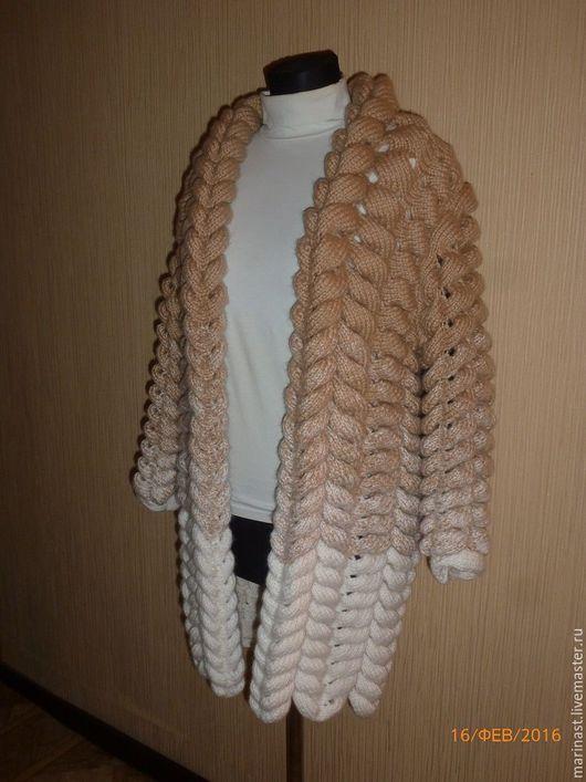 Верхняя одежда ручной работы. Ярмарка Мастеров - ручная работа. Купить Кардиган из ангоры. Handmade. Бежевый