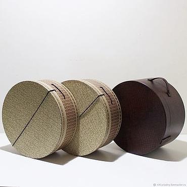Материалы для творчества ручной работы. Ярмарка Мастеров - ручная работа Шляпная коробка. Handmade.