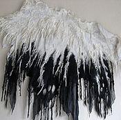 """Одежда ручной работы. Ярмарка Мастеров - ручная работа Валяное пончо """"Падший ангел"""". Handmade."""