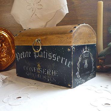 Для дома и интерьера ручной работы. Ярмарка Мастеров - ручная работа Сундук из кедра для хранения на кухне Le France.. Handmade.
