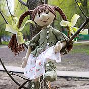 Куклы и игрушки ручной работы. Ярмарка Мастеров - ручная работа Глафира (22 см сидя). Handmade.